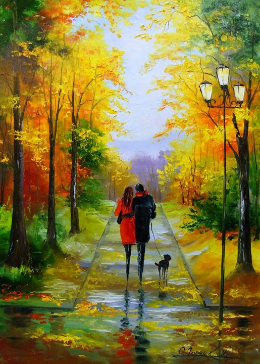 A walk in the early autumn - Olha Darchuk