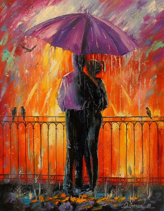 Lovers in the rain - Olha Darchuk