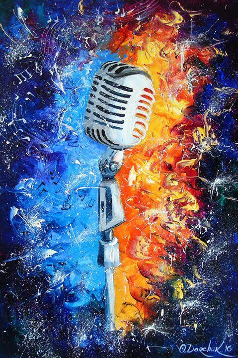 Golden microphone - Olha Darchuk