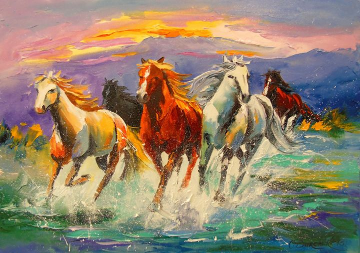 A herd of horses - Olha Darchuk