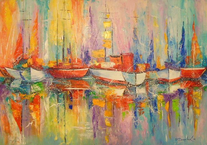 Boats in the Harbor - Olha Darchuk