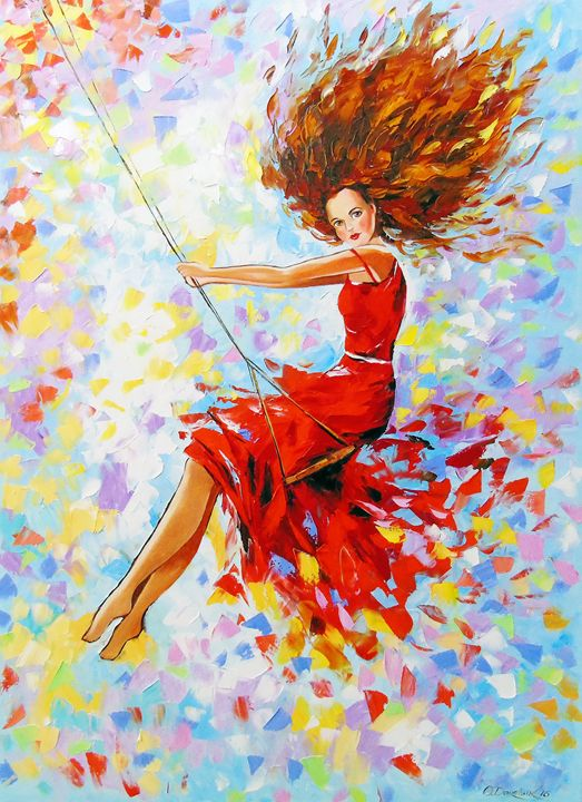 Girl on the swing - Olha Darchuk