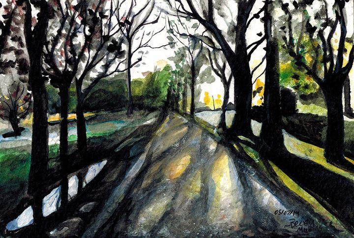 Sunrise on the Road - Rebecca Mullins Artwork