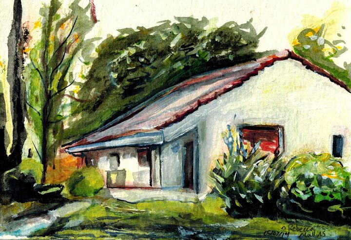 Argentine Country House - Rebecca Mullins Artwork