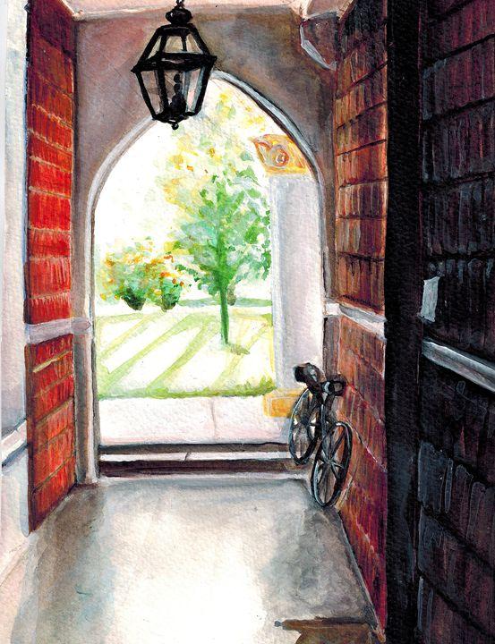 Outside the Chapel - Rebecca Mullins Artwork