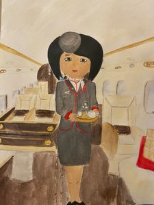 Private jet flight attendant