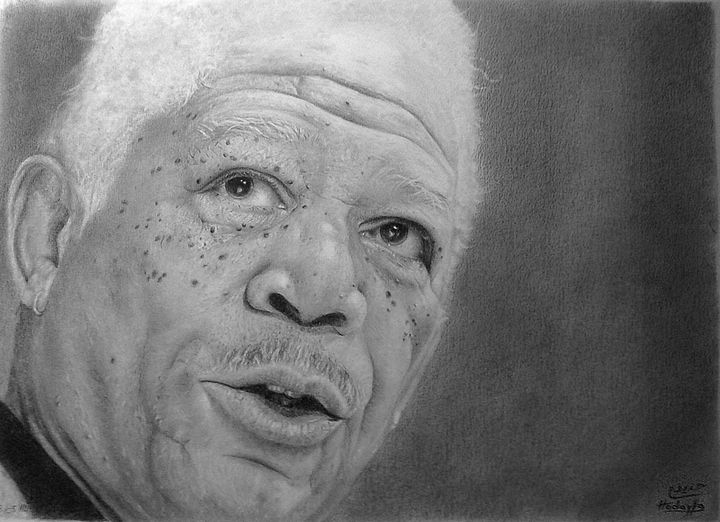Morgan Freeman - Houdaifa PENCIL ART