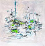 Abstrait série Chelation acrylique m