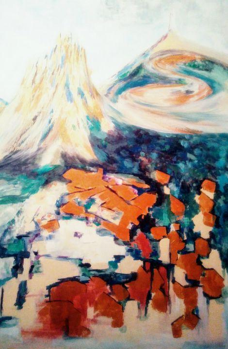 Village au pied du Ventoux - Sophie Delavague