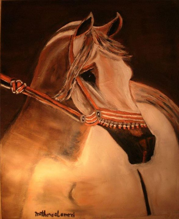 Brown horse - Muthanna Al Ameri Artist