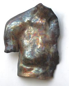 Original Raku Sculpture - His Chest