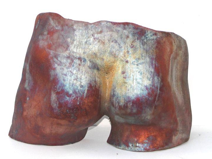 Original Raku Sculpture - Derrier - The Weber Studio