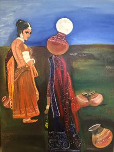 Woman carrying the Moon