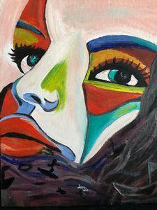 Ocean Face abstract