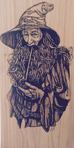 The Grey - Solid Hardwood Pyrography
