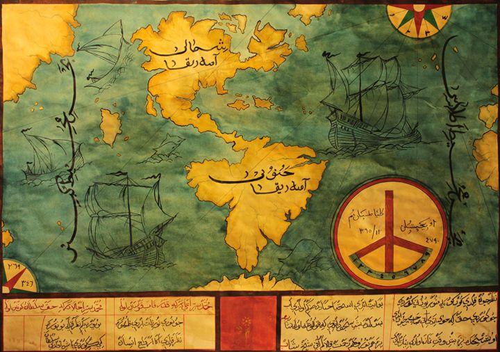 Ancient World Map - NevartKoleksiyon