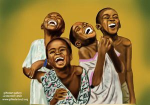 joy of african children