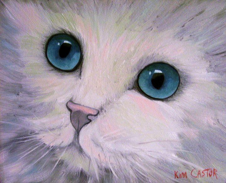 White Fluffy Kitten - Kim Castor
