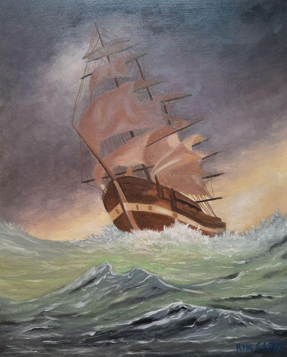 Ship in a storm - Kim Castor