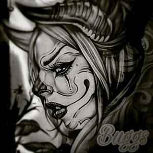 Gothic devil clown