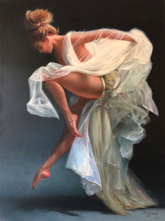 Dance girl - Narvan gallery, gholamreza razghandi