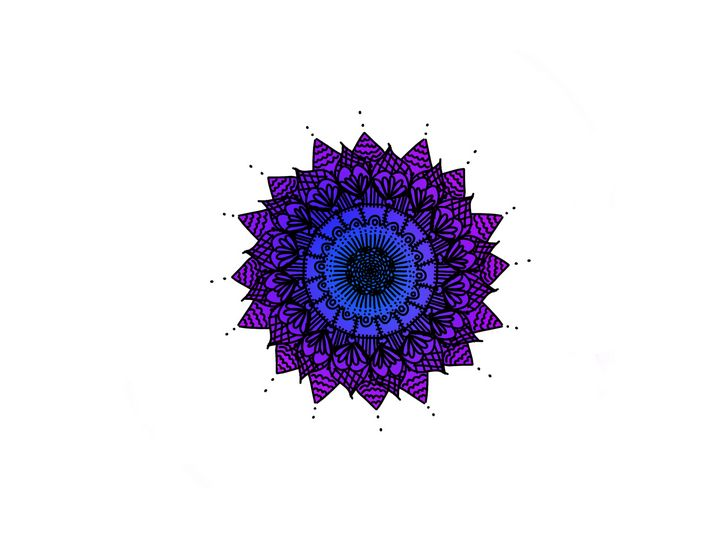 Blue and Purple Mandala - Arts By a Teen