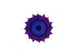 Blue and Purple Mandala