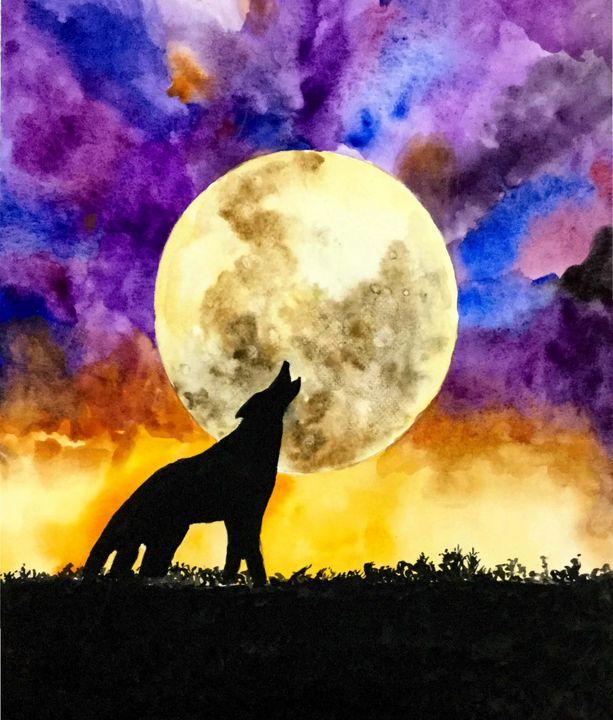 Midnight moonlight - Arts By a Teen