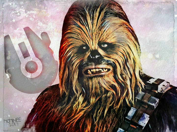 Chewbacca Galaxy - MOMINEE ART