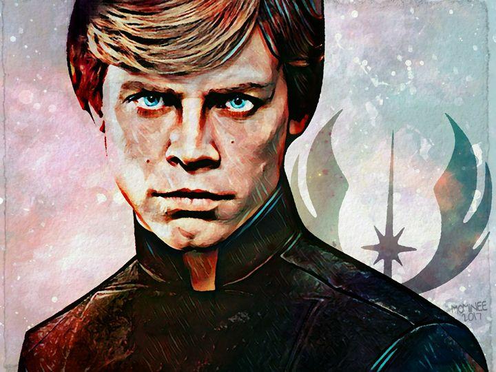 Luke Skywalker Galaxy - MOMINEE ART