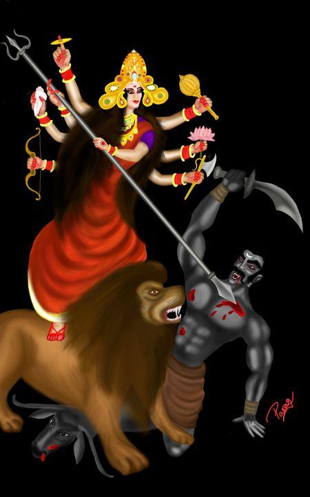 Maa Durga (goddess Durga) - Paragarts