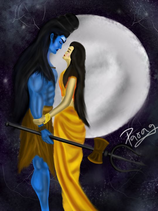 Shiva and Parvati - Paragarts