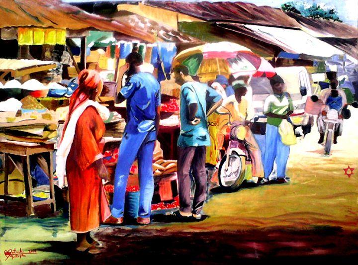 Africa Market Scene -  Moscolexy