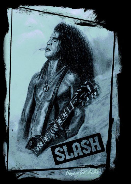 Slash mixed medium portrait - Hayam DK Art