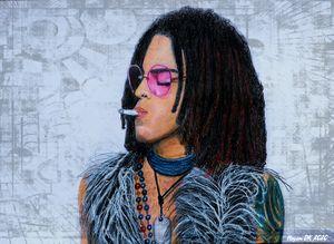 Lenny Kravitz hippie style