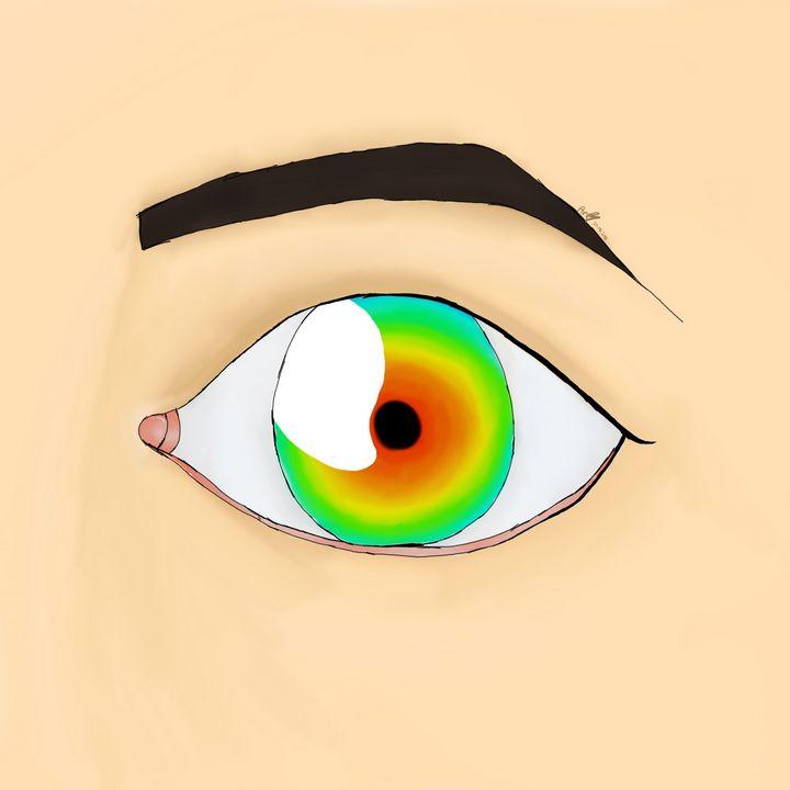 Rainbow Eye - Poppy Wood