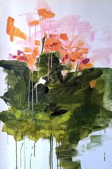 Painting of singing flowers - Ori Fine Art