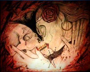 kiss a death