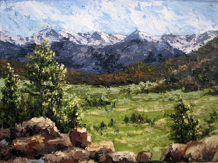 A View of Longs Peak - Cynthia Danielle