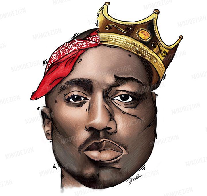 Tupac Shakur & Notorious B.I.G. Art - MimiDezign ... Tupac And Biggie Painting