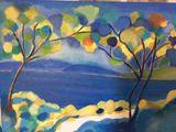 Peinture mixte sur toile