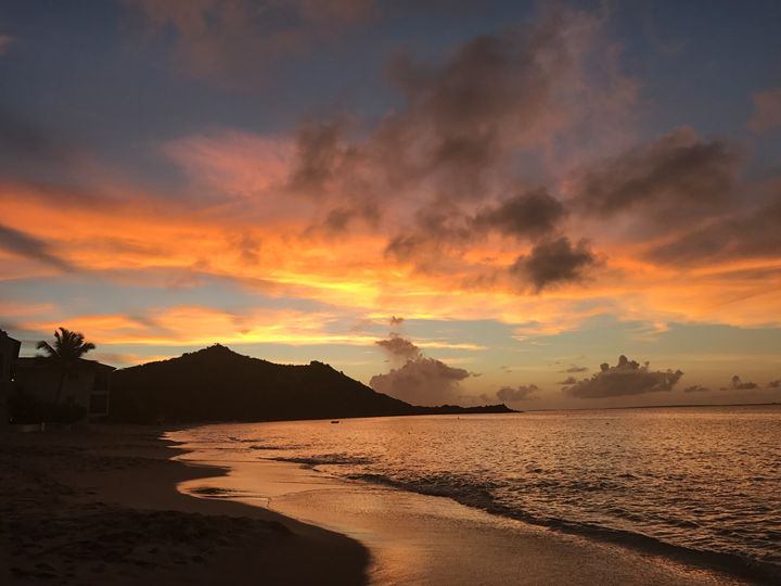 St Martin Sunset - Ann Smith