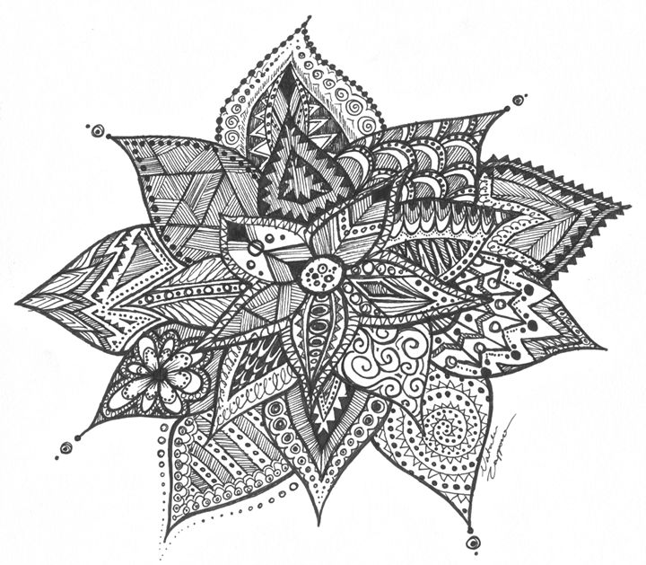 Zentangle Flower - Natalie Zappone's Art