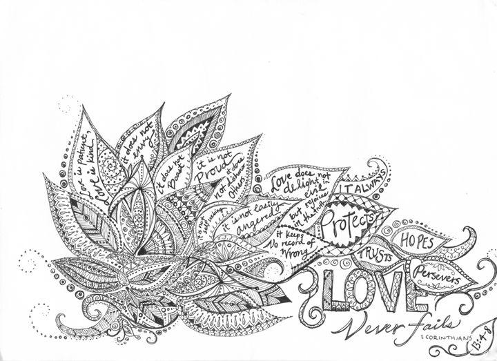 Love Never Fails - Natalie Zappone's Art