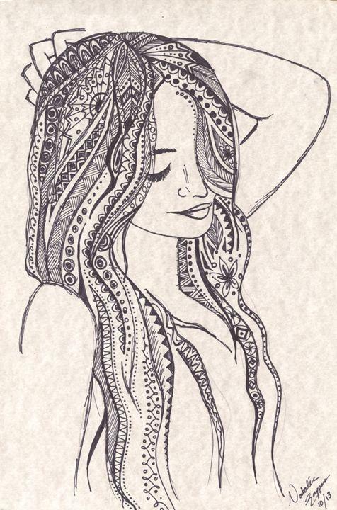Zen-tangled Locks - Natalie Zappone's Art