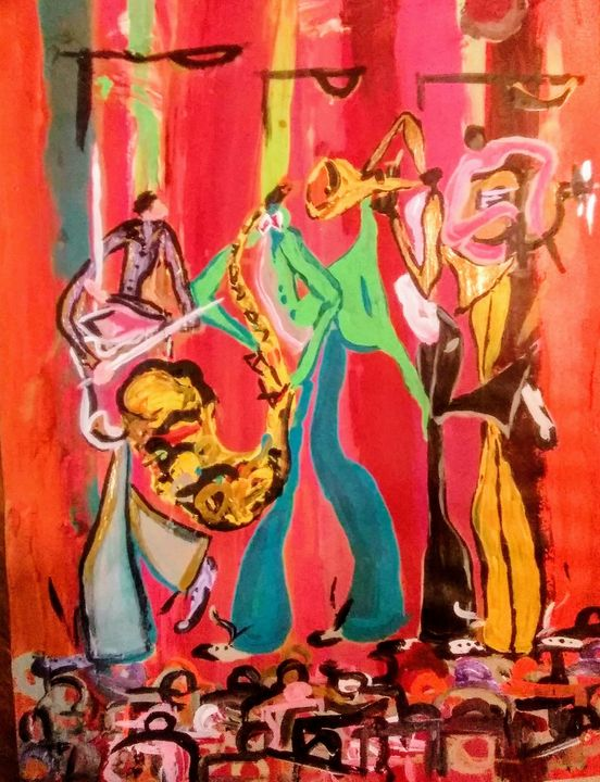 Jamming In New Orleans - Art of David Dinkins