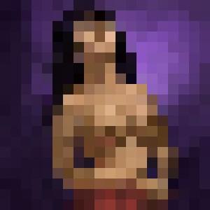 the girl semi nude
