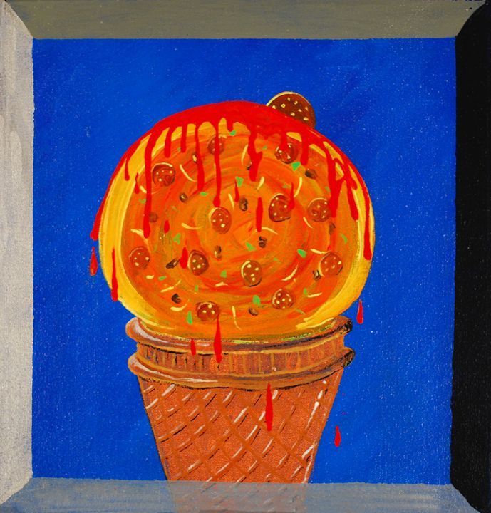 If Pizza was Dessert - Kirby Lewis, West Virginia Artist