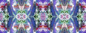 Blue-Violet Eagle Kalleidoscope