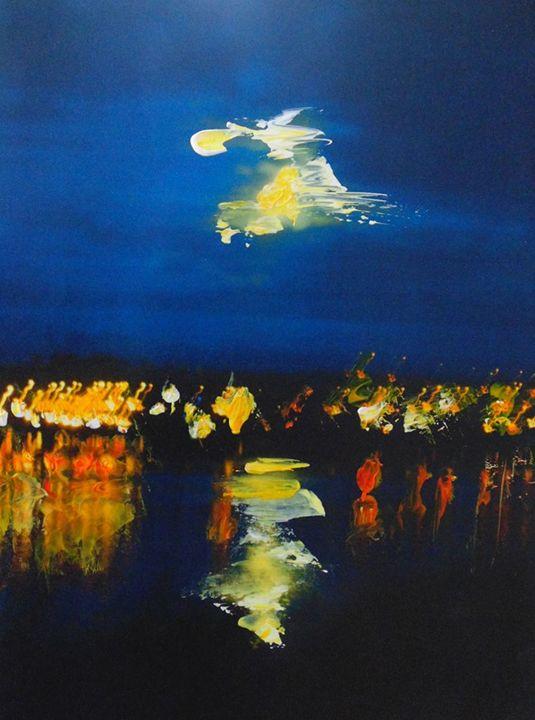 Lights (Over-painting) - LisaKellyArt